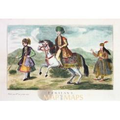 Persian horse antique print Persians anonymous c. 1750