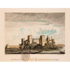 Conwy Castle print Aberconway Castle Wales. Grose 1774