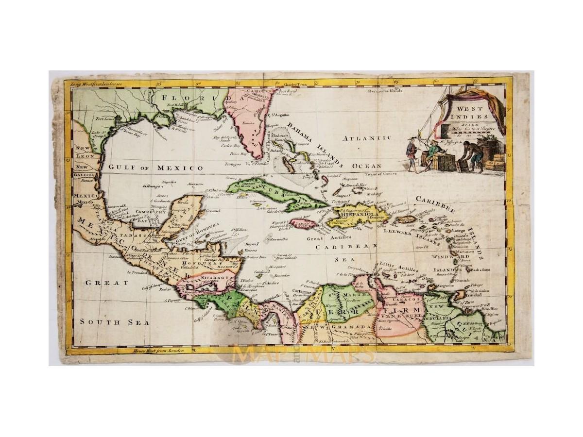 Caribbean antique map west indies florida jefferys 1762 gumiabroncs Images
