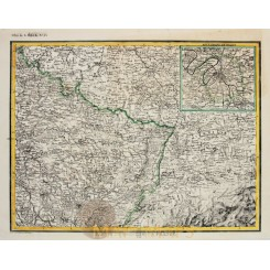 NORTH-EAST FRANCE ANTIQUE MAP No: 33 HECK 1842