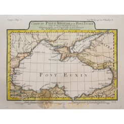 Carte Du Paulus Méotide, Black Sea old map Barbie 1781