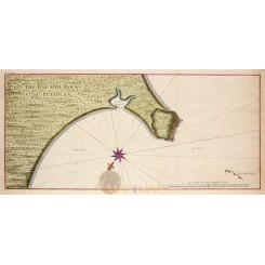 Panama old map rocks of Petaplan White Friars Anson 1748