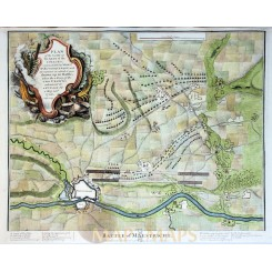 Battle Plan of Maastricht Old map battle plan Rapin 1743