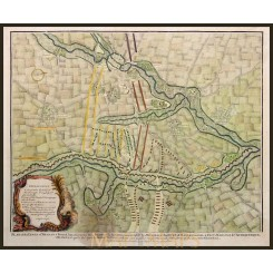 Antique Battle plan Lines of Brabant by Rapin 1743