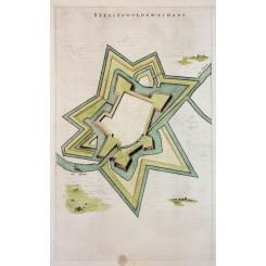 Oudeschans (Bellingwolderschans) Groningen Blaeu 1649