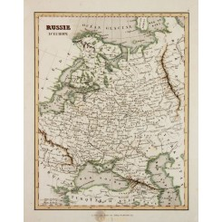 Europe Russia antique map Russie D'Europe Binet 1838
