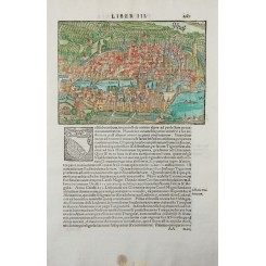 Zürich Switzerland woodcut Sebastian Munster 1578