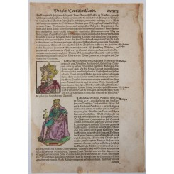 Europe monarchen woodcut Sebastian Munster 1550