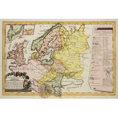East and North Europe map Von Reilly 1791