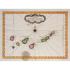the Canaries Spain Isles Canaries Bellin map 1746