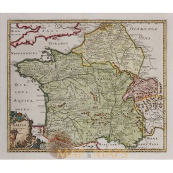 French Gallia Antiqua et Nova Cluverius map 1697