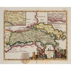 Ancient Greece, Achaia quae et Hellas Cluver 1697