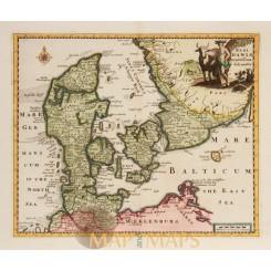 Kingdom Denmark Regi Daniae Cluver 1697