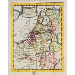 Netherlands Seventeen Provinces Old map Buffier 1769