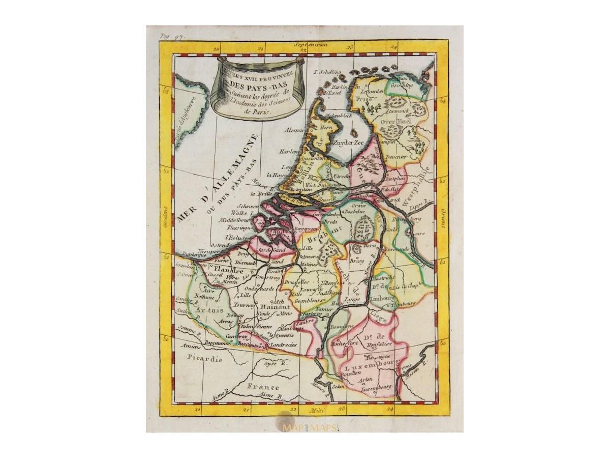 Netherlands Seventeen Provinces by Buffier Mapandmaps