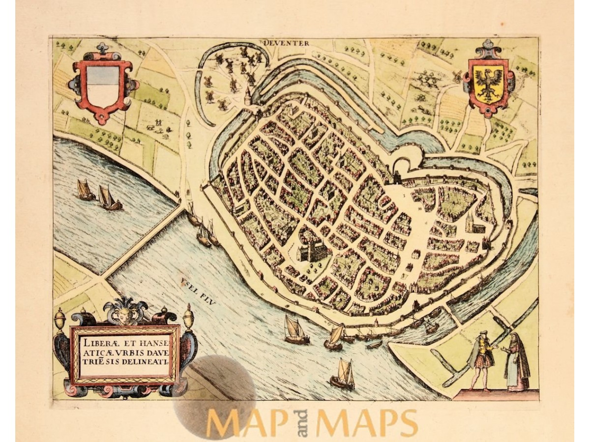 Deventer Antique Town plan by Giucciardini Mapandmaps