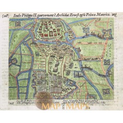 Groningen Town Plan by Guillaume Baudart 1616
