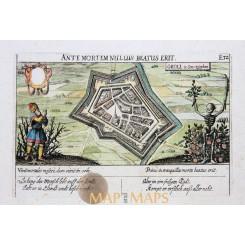 Groenlo Antique Print Groll Achterhoek by Meisner 1638