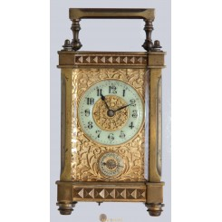 Attractive 1890 French Carriage Clock, with Arabic numerals.