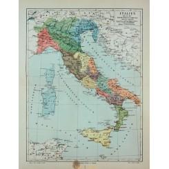 Antique Old Map Italy time Augustus Caesar 1905