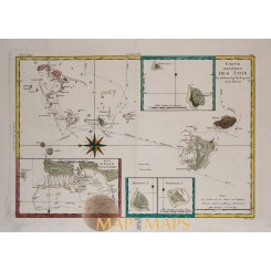 Bonne Map Friendly Islands Cook voyages - Bonne 1788