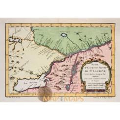 Celebes Sulawesi Island Indonesia map Bellin 1755