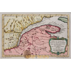 Canada maps St. Lawrence River Bellin 1757