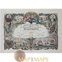 Atlas National title page Levasseur 1856