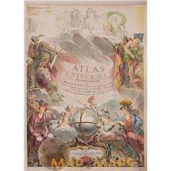 Title page Atlas Universel de Vaugondy 1791