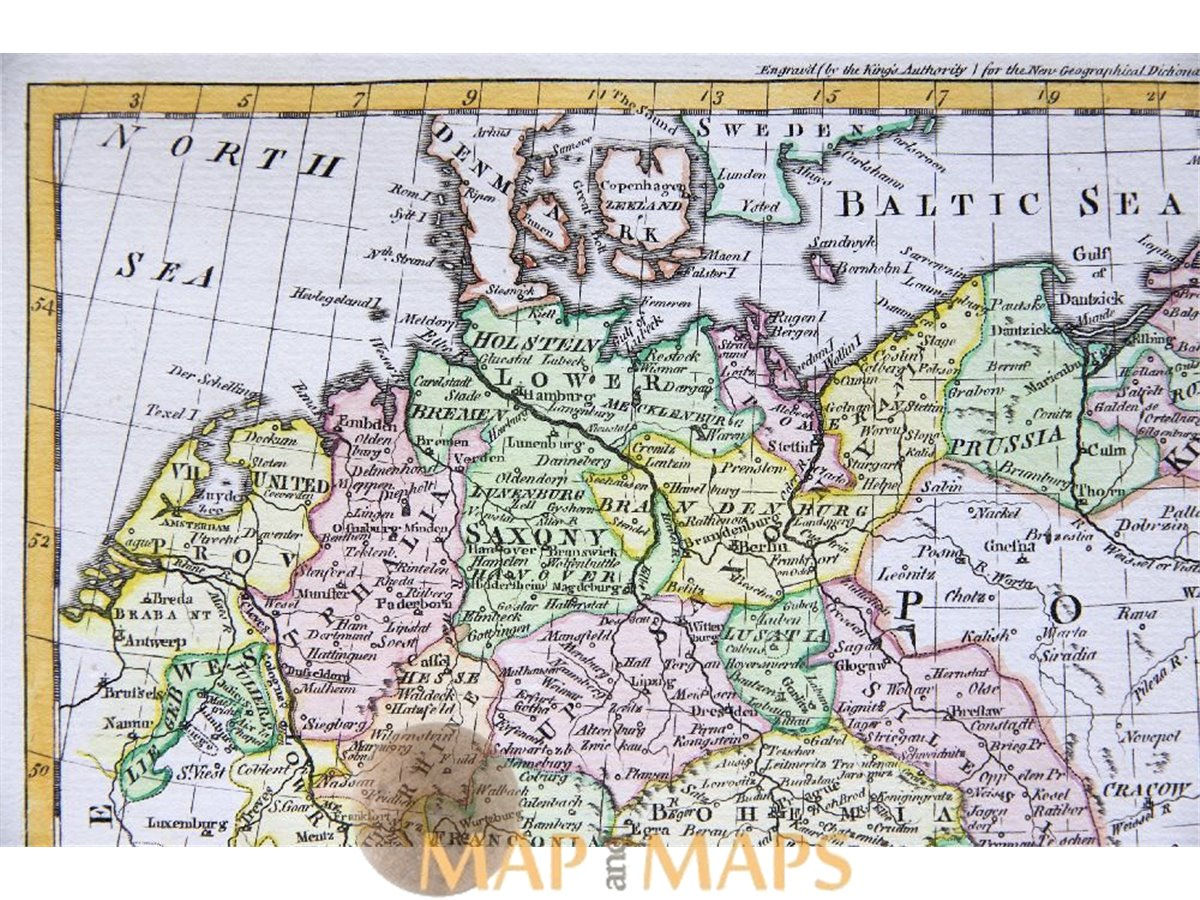 a new map of germany with switzerland rollos 1764. Black Bedroom Furniture Sets. Home Design Ideas