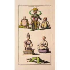 Chinese Idols Fine antique print by Edward Rooker 1780
