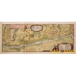 Army Camps Bavaria Dingolfing river Isar Germany by Merian 1652