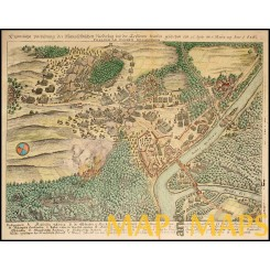 Battle of Dessau Bridge  Germany Merian 1654