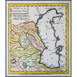 ANTIQUE MAP OF  THE CASPIAN SEA, GEORGIA, ARMENIA, BY CANDELL 1784.
