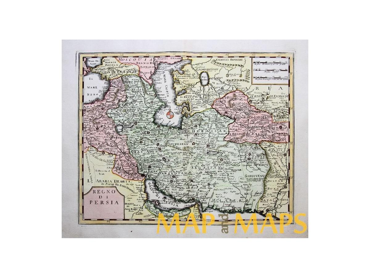 Kingdom Persia Antique Map Regno Di Persia By Albrizzi Mapandmaps