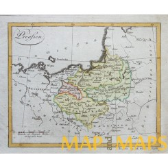 POLISH PRIUSSIA DANZIG ANTIQUE MAP PREUSSEN WALCH 1812