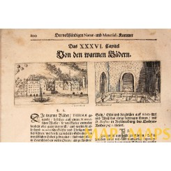 Germany Mineral Baths 17th century antique print 1672