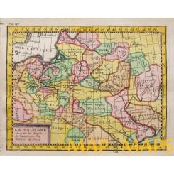 Poland Livonia old map Vaugondy c.1750