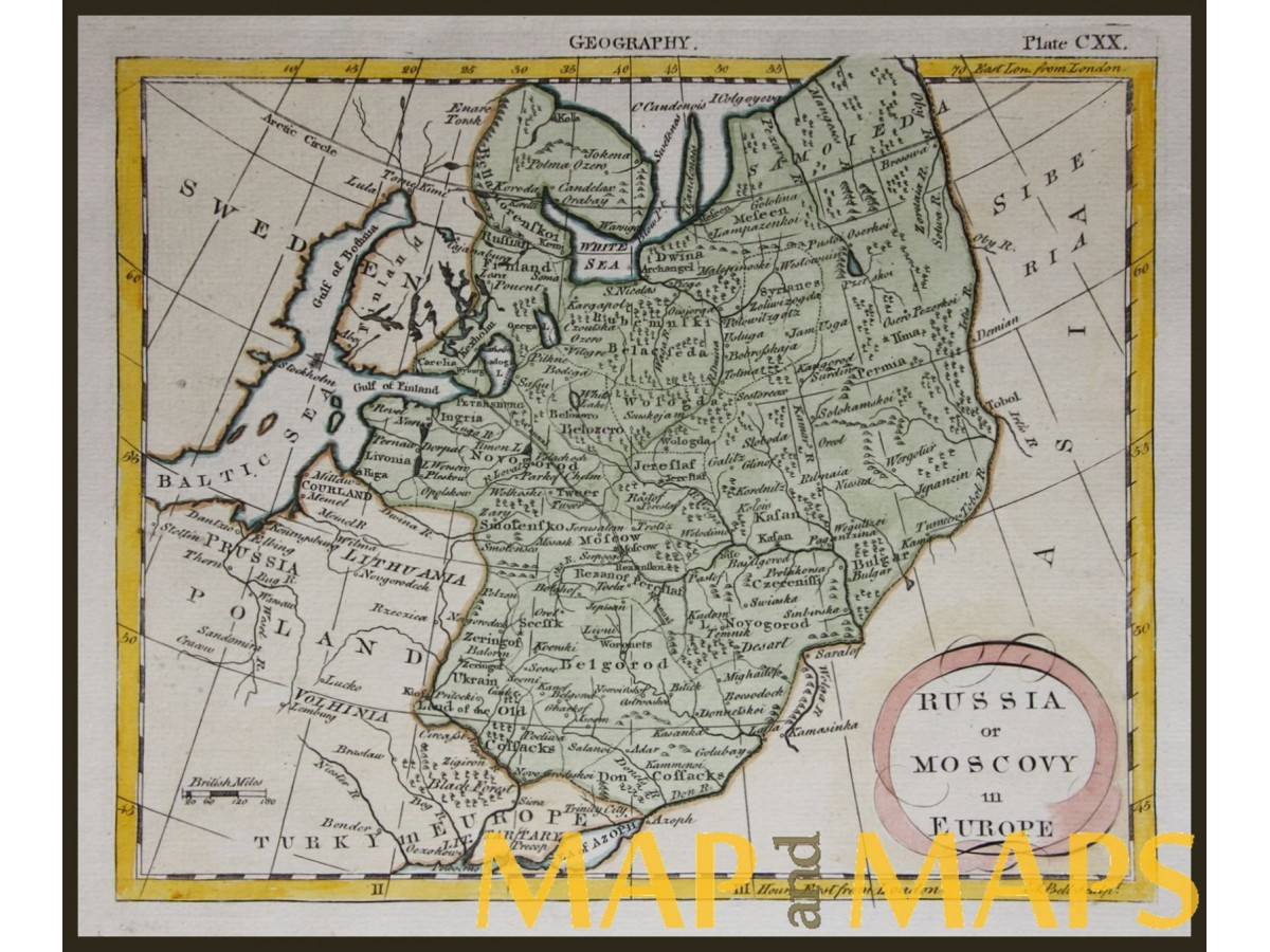 Baltic Europe Map.Russia In Europe With The Baltic States Antique Map Bell Mapandmaps