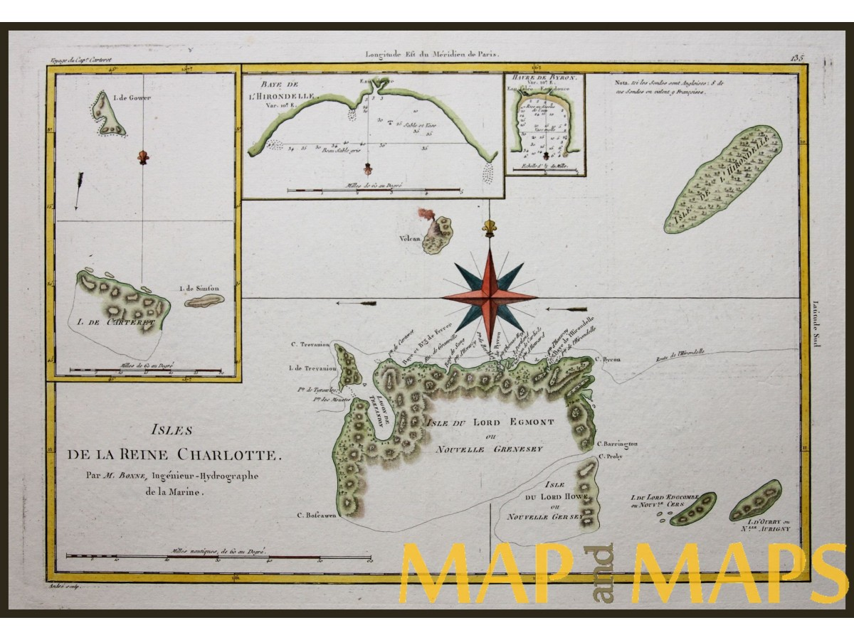 Solomon Islands, Captain Cook's Voyage By Bonne 1787