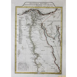 EGYPT, NILE DELTA, ANTIQUE MAP, COPPER ENGRAVING, BY ANVILLE 1788