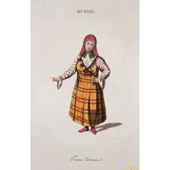 Russia Women of Tartary-Femme Tartara Antique Print 1834
