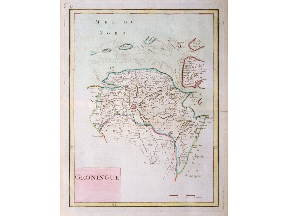 Groningen Netherlands Groningue antique map Le Rouge | Mapandmaps