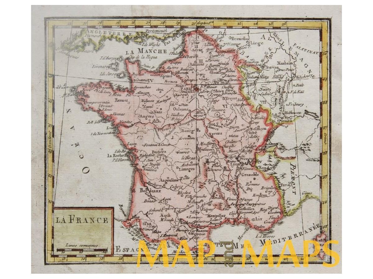 Map Of France Provinces.France Provinces Antique Map By Vaugondy Mapandmaps