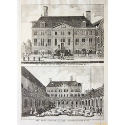 Waterloo Square Amsterdam Old Print Jan Wagenaar 1760
