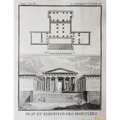 Temple Plans. Old Greek Architecture Prints by Barbie 1785