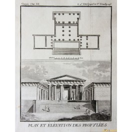 5 - ANCIENT TEMPLE PLANS-GREECE-OLD PRINTS BARBIE 1785