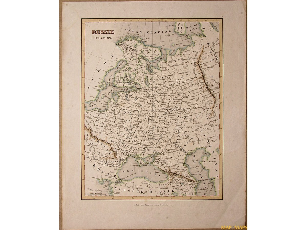 Paris Georgia Map.Russia Europe Early Antique Map Russie D Europe Fleming Mapandmaps