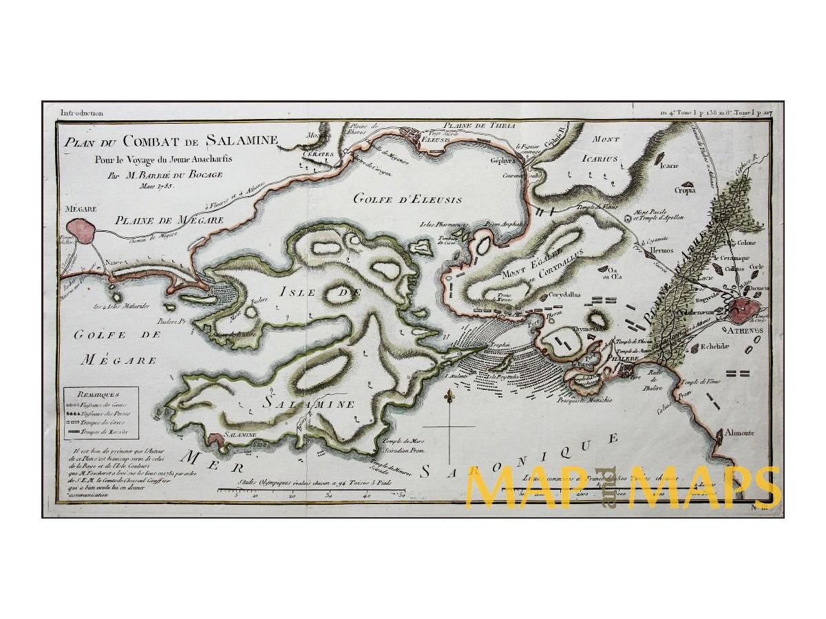 Battle Of Salamis Greece Antique Plan Barbie Du Bocage Mapandmaps