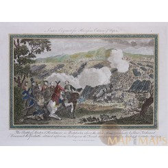 The Battle of Minden early copper engraving Harrisson Rapin 1783.